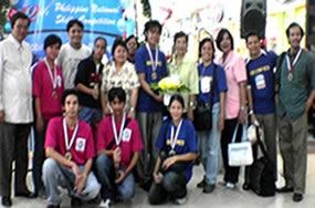 A total of five top Gold Medals of Excellence were received by the National Capital Region. Included are the coach-interpreters (Sir Jojo and Ma'am Imelda Pedro of PSD), TESDA and NCWDP Officials.