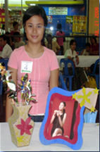 Dianne Barcelona and her Photo Frame Entry