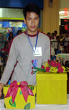 Gibson Cruz and his Gift Box winning entry