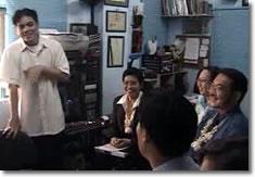 Sir Jojo introduces APCD delegates led by Mr. Ninomiya during their 2004 visit.