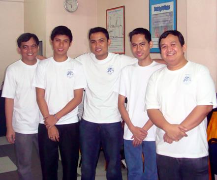 From Left: Sir Jojo Esposa Jr., Sir Lucky McGill Paltep, Sir Jerome Marzan, Sir Ace Diaz and Sir Ervin Reyes