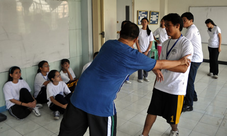 Master Bennet demonstrates Tai-Chi as a self-defense.
