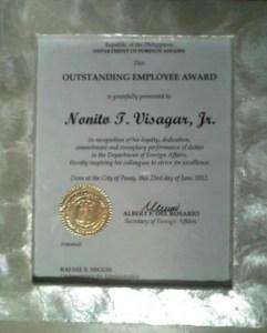 DFA Honors MCCID Alumnus
