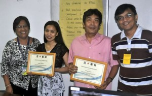 From Left: NCC's Angelita Nicolas, PWAG's Lourdes Borgonia, ATRIEV's Tony Llanes and Sir Jojo