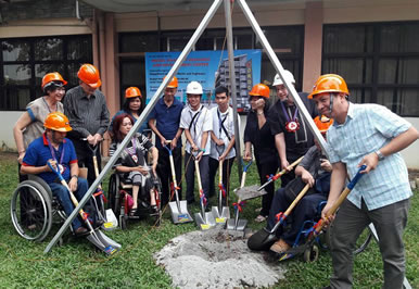 Members of the PWD sector took part in the ground breaking of the model Disability Resource and Disability Center.