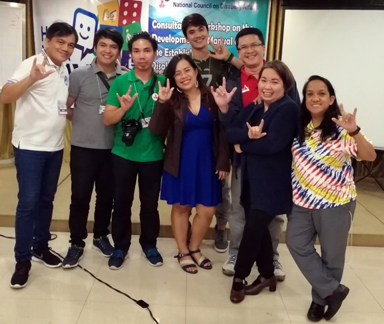 Deaf, Hard of Hearing participants together with their sign language interpreters.