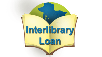 A graphic of the word inter-library loan