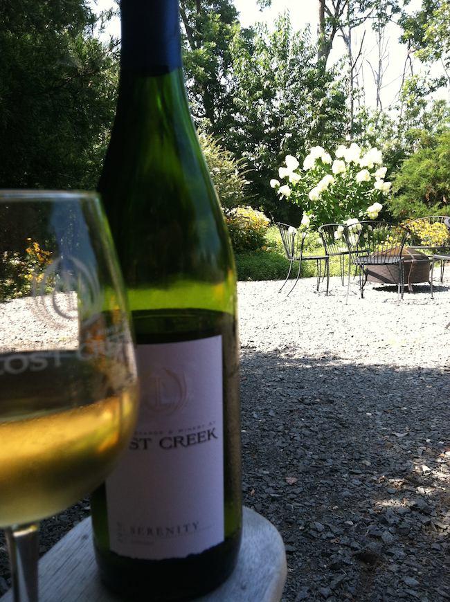 summer foods: Lost Creek Winery, Leesburg, VA
