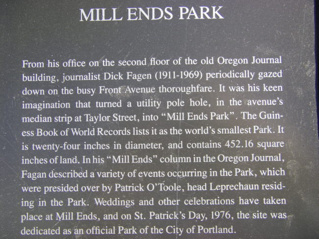world's smallest park
