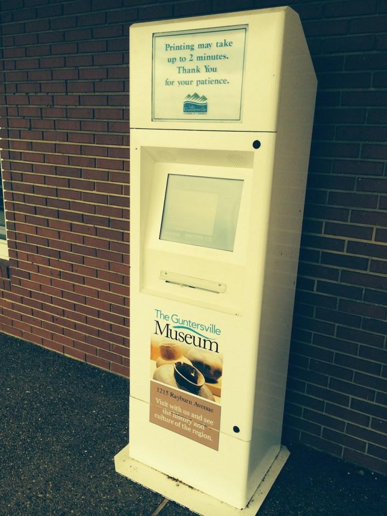 Northeast Alabama kiosk
