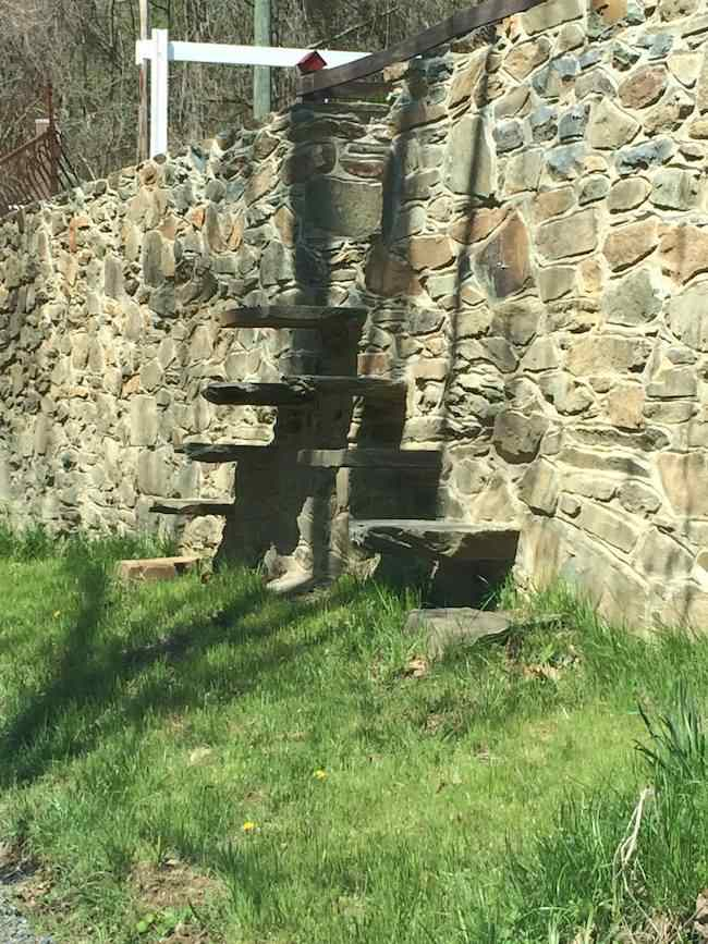 stone steps along Downey Mill Road
