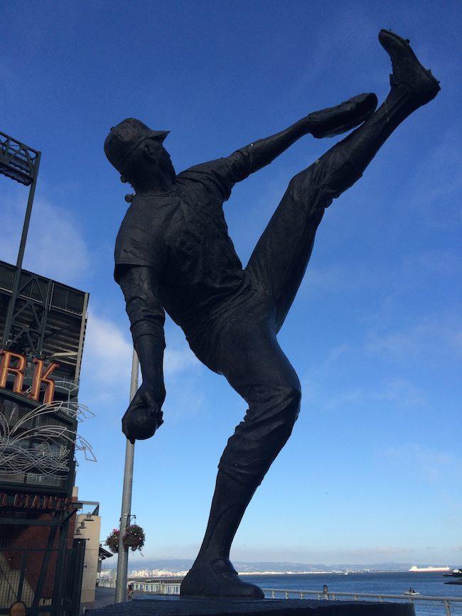 Juan Marichal statue in San Francisco
