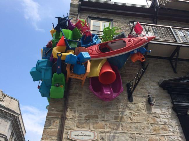 art in a side street in Quebec city