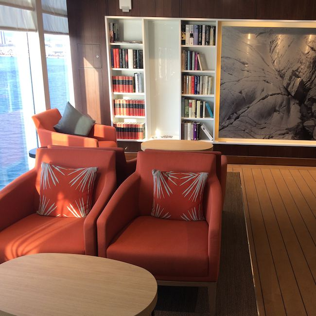Viking Cruises : Viking Star : Wintergarden lounge area and library