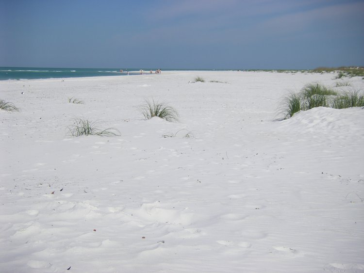 soft white sand of Anna Maria Island beach