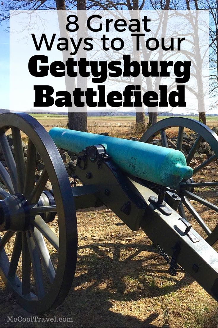 Over one million visitors tour Gettysburg battlefield every year and we discovered there are many ways to tour Gettysburg battlefield.