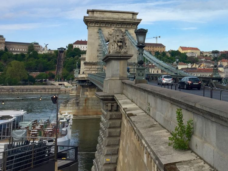 Viking River Cruise at Chain Bridge Budapest