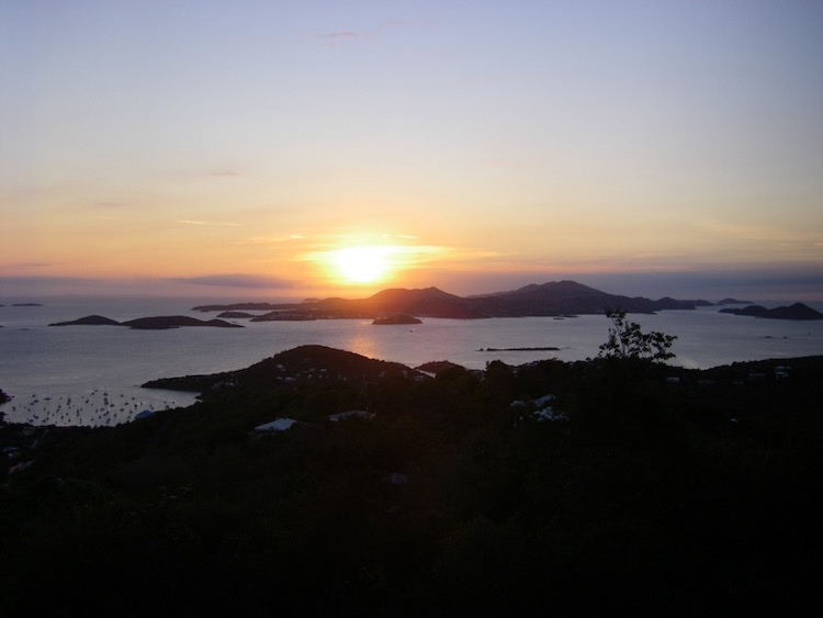sunrise and sunset photos: St, John, USVI