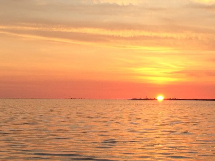 sunset from Sunset Beach, Tarpon Springs, Florida