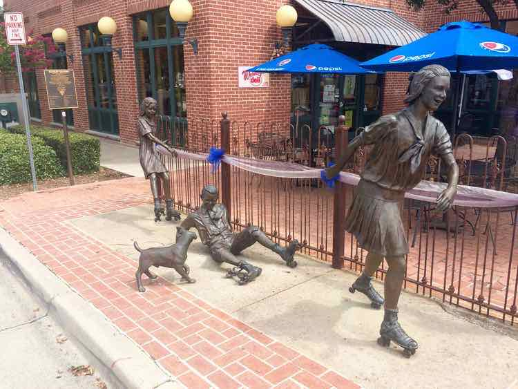 things to do in Grapevine Texas: public art in Historic Grapevine downtown Main Street