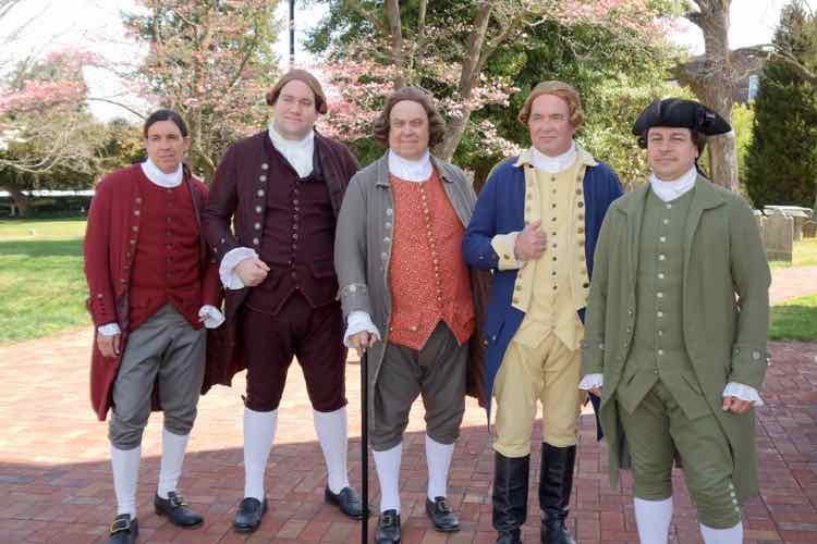 Patrick Henry and other reenactors at St. John's Church