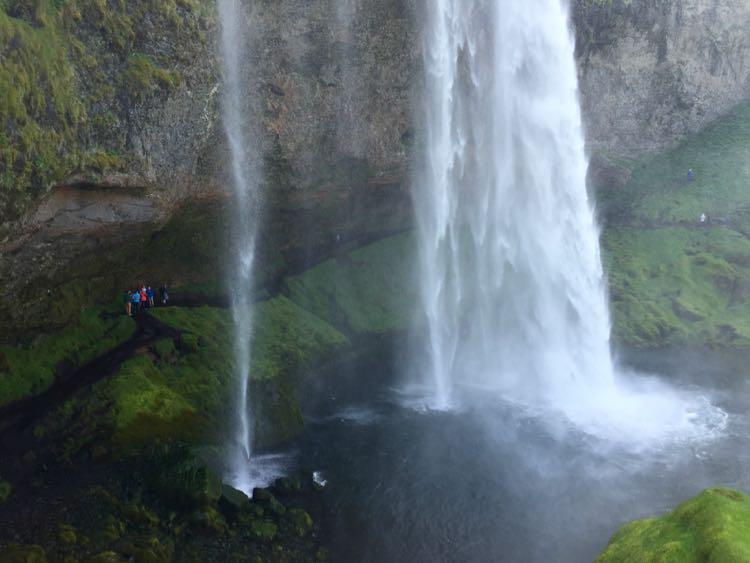 Behind Seljalandsfoss Iceland