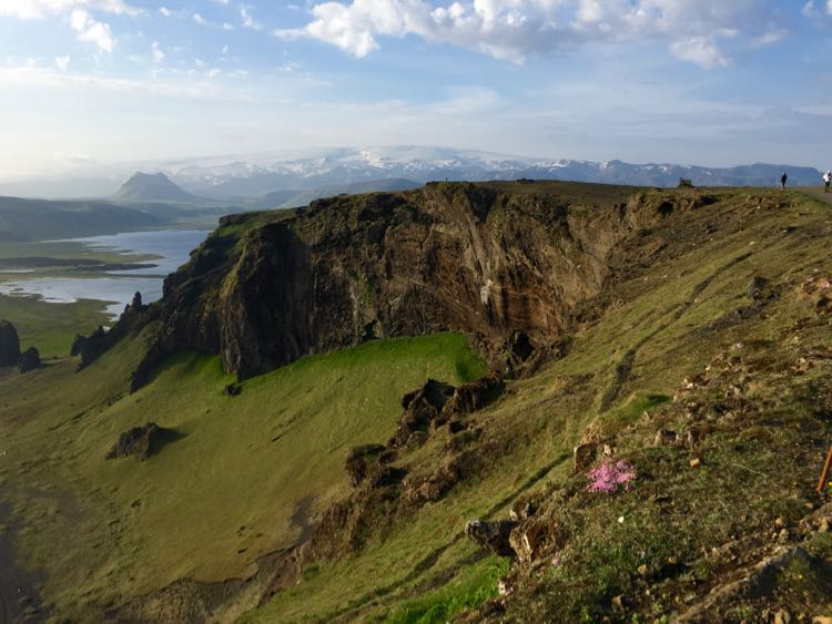 View inland from Dyrholaey lighthouse Iceland