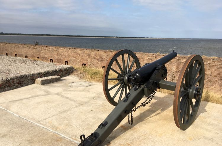 cannon at the 19th century Fort Clinch State Park