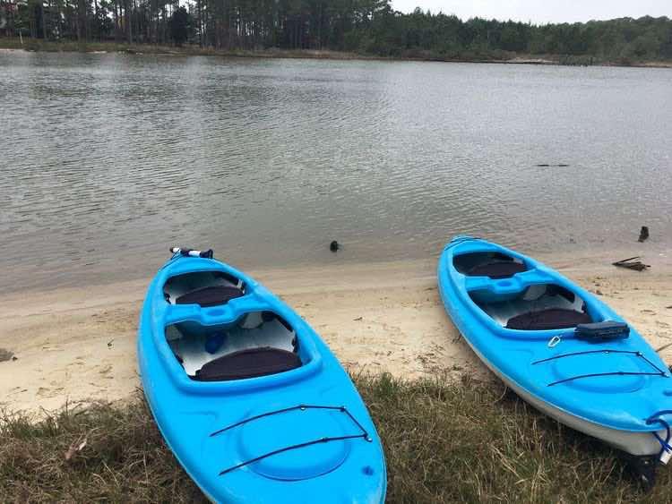 kayak on Bon Secour river, Gulf Shores, Alabama