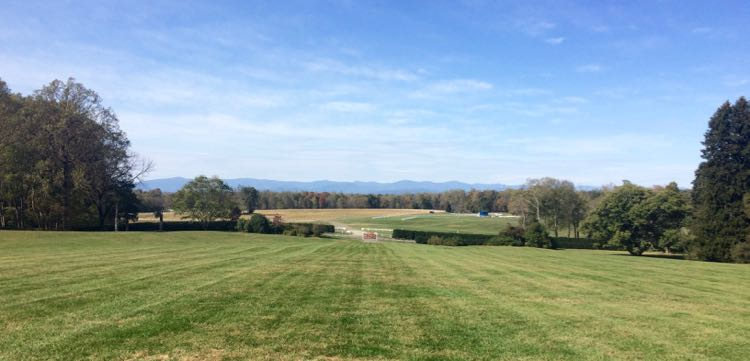 James Madison's view at Montpelier Virginia