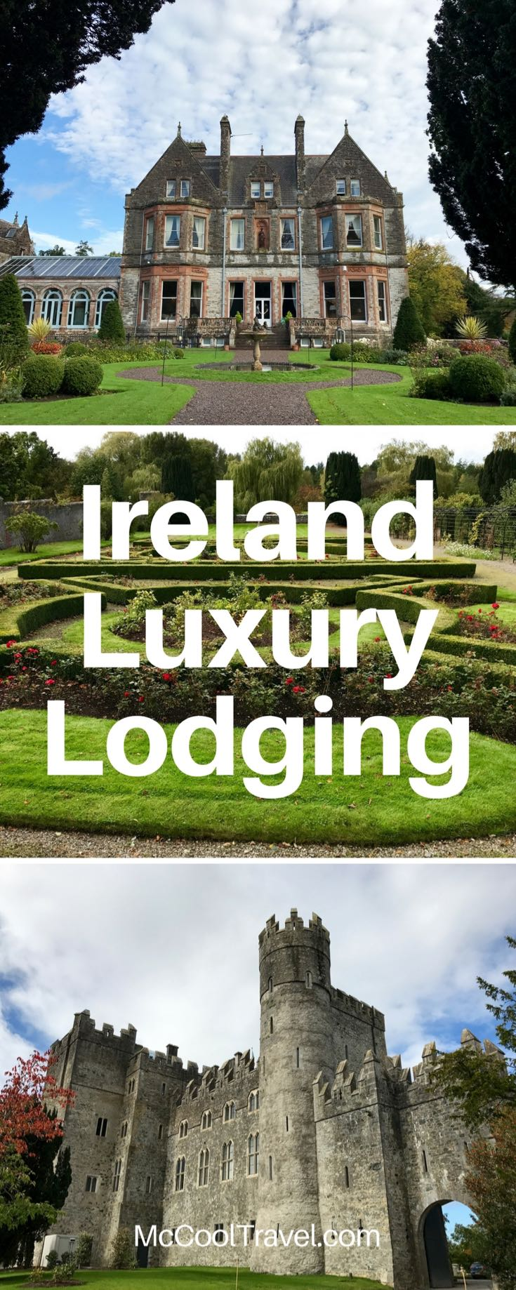Ireland luxury lodging. Photo and article by Charles McCool for McCool Travel.