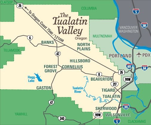 Tualatin Valley map is from TualatinValley.org