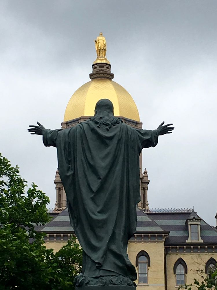 Golden Dome atop the Notre Dame Main Building