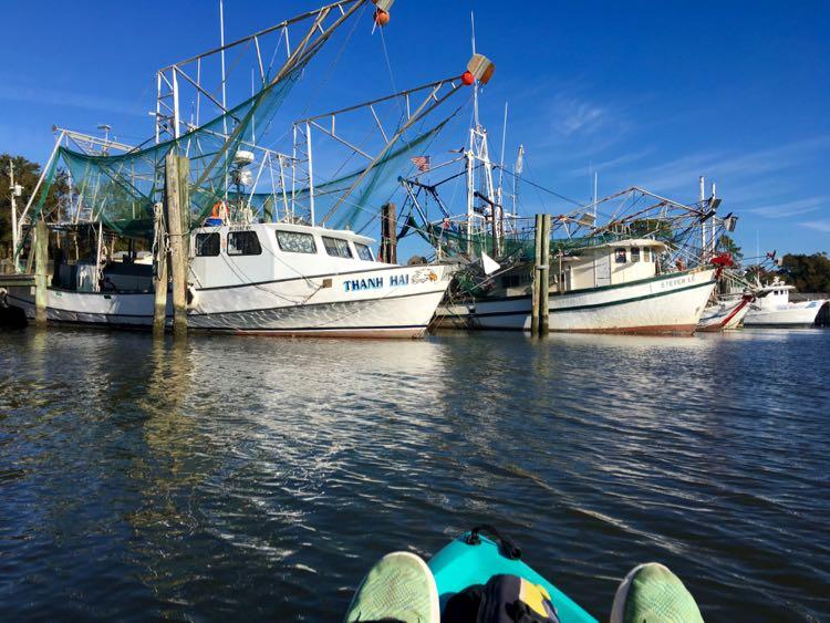 #BigShrimpin on a kayak in Ocean Springs, Coastal Mississippi