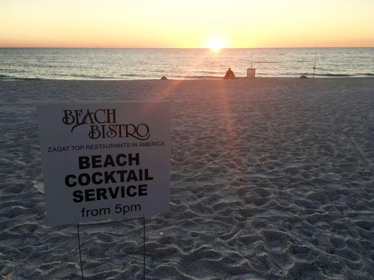 celebrate sunset at Beach Bistro on Anna Maria Island FL