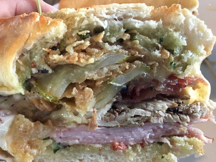 Cuban sandwich at Big Blue Brewing