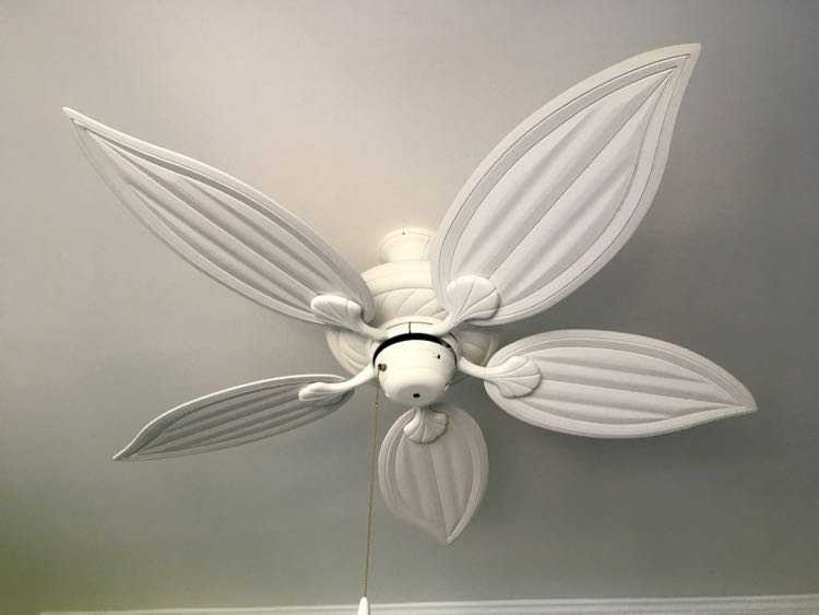 ceiling fan in South Seas Island Resort room