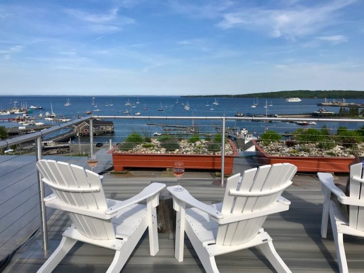 250 Main Hotel Rooftop Deck in Rockland Maine