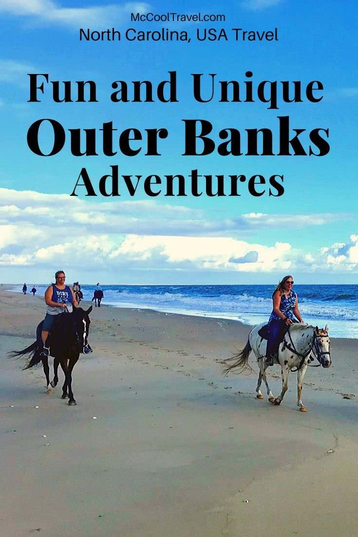 Unique activities and fun things to do in Outer Banks North Carolina include horseback riding on the beach