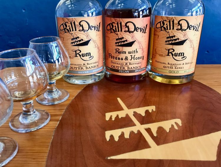 Sample draft spirits at Outer Banks Distilling in Manteo OBX