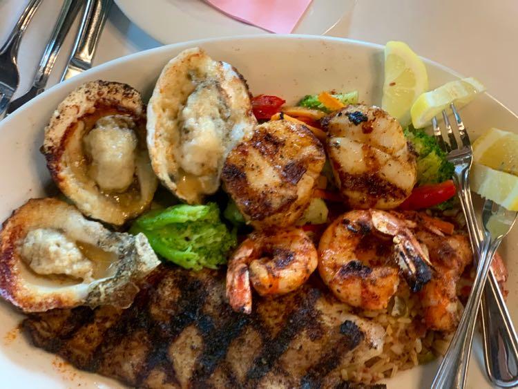 fresh Mississippi Gulf Coast seafood platter