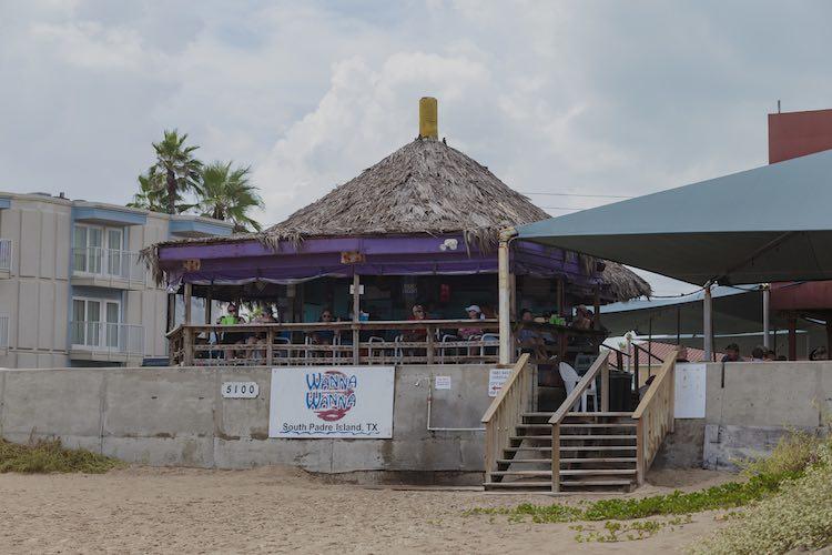 Wanna Wanna Inn tiki bar on South Padre Island