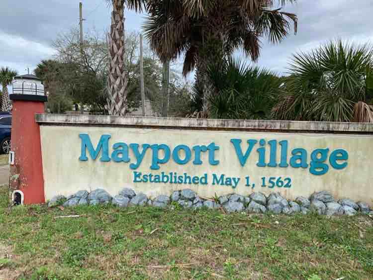 Mayport Village Florida sign