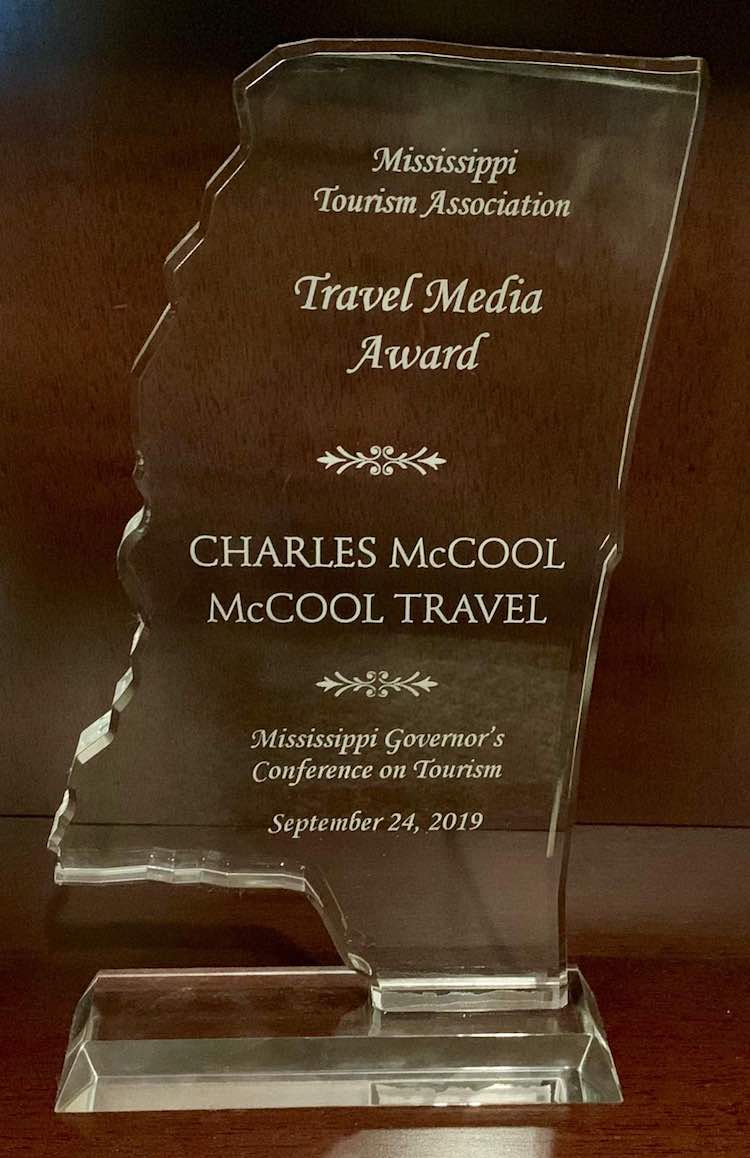 Mississippi Tourism Assoc Travel Media award 2019