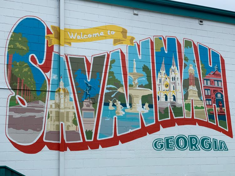 street art wall mural in Savannah Georgia