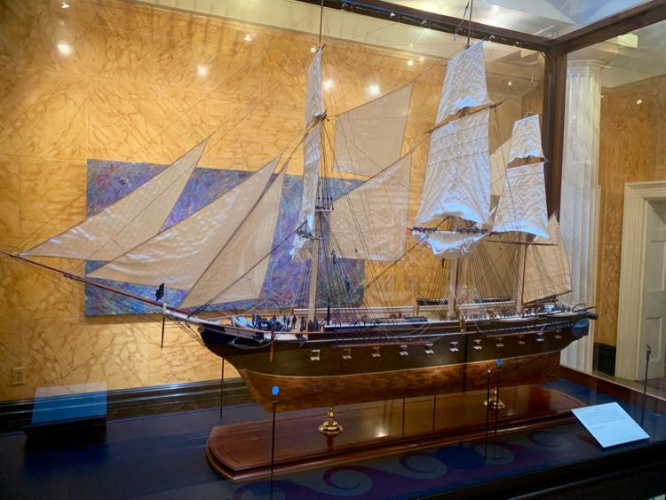 grand ship model at Ships of the Sea Maritime Museum