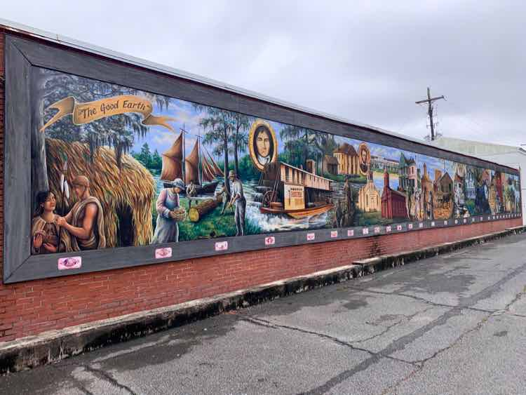 History of Terrebonne wall mural in Houma