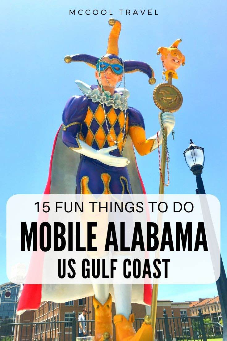 Things to do in Mobile Alabama include remarkable restaurants, cool museums, fun outdoor adventures, gorgeous oaks, oldest US Mardi Gras, and so much more. #travel #thingstodo #MobileAL