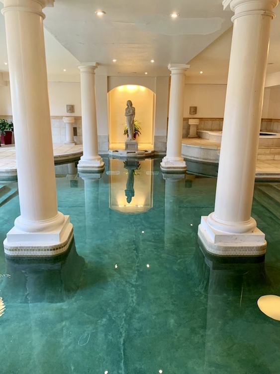 Roman style saltwater pool at The George Washington Hotel