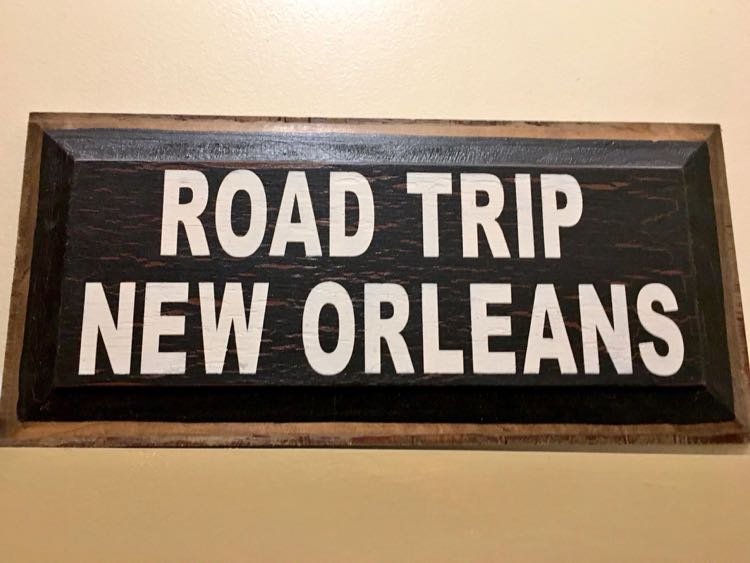 New Orleans road trip sign